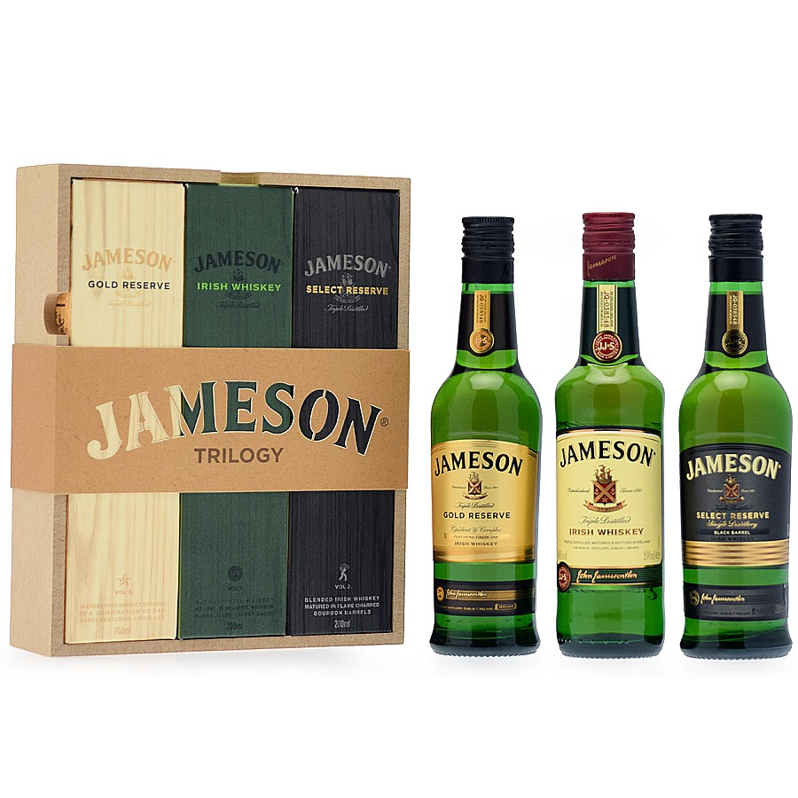 coffret whiskey jameson trilogy 3x20cl 40. Black Bedroom Furniture Sets. Home Design Ideas