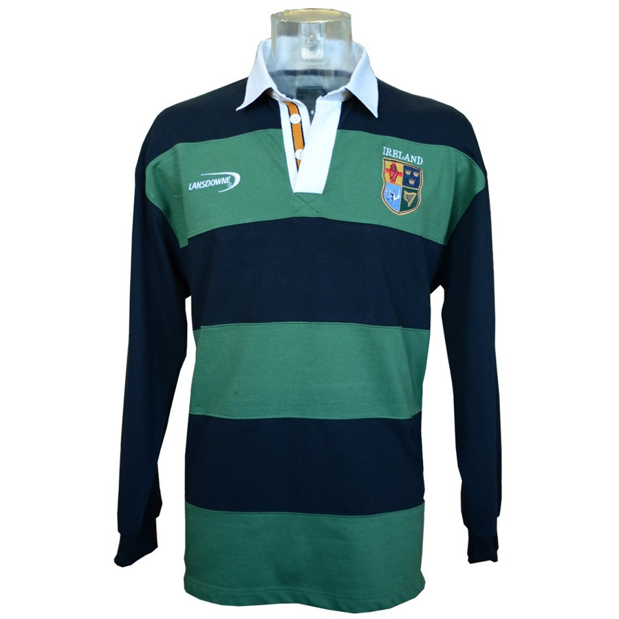 Lansdowne Ireland Navy Green Stripes Polo Shirt