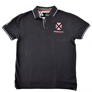 Polo Gris Anthracite Breizh Celtic Alliance