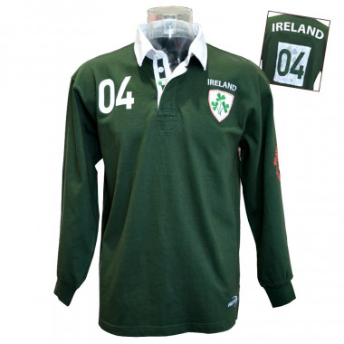 Lansdowne Ireland Green Men's Rugby Polo Shirt