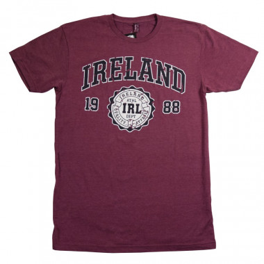T-shirt Ireland Bordeaux Chiné