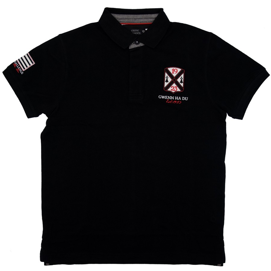 49aa402e46ce Polo Noir Breizh Celtic Alliance