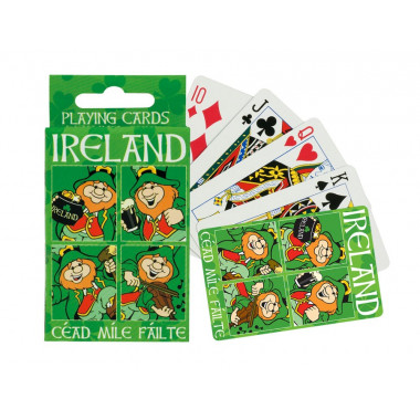 Leprechauns Playing Cards Game