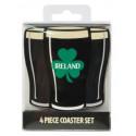 Four Irish Stout Coasters Set