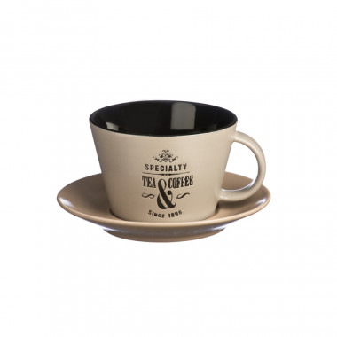 Specialty Tea Taupe Cup & Saucer 250ml