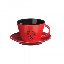 Specialty Tea Red Cup & Saucer 250ml