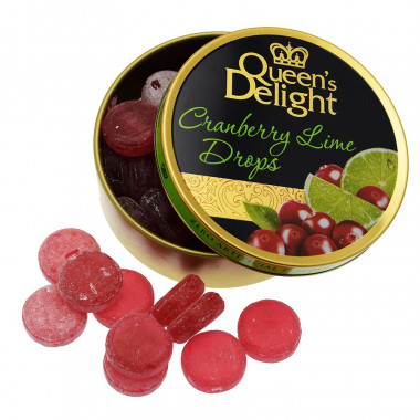 Queen's Delight Cranberry & Lime Drops 150g