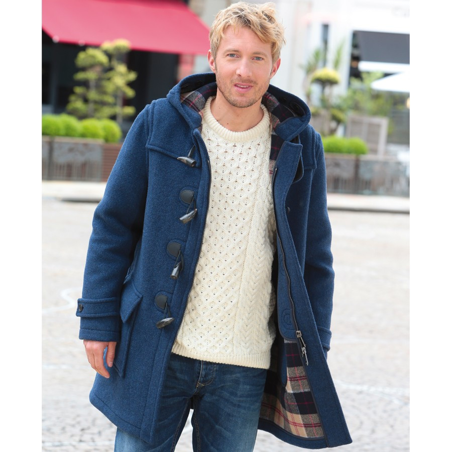 London Tradition Denim Twill Barry Duffle Coat
