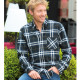 Chemise Tartan Noir-Marine Out of Ireland