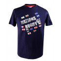 T-shirt Drapeaux Marine Nations of Rugby