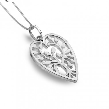 Heart-Shaped Tree of Life Pendant