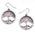 Tree of Life Tin Drop Earrings