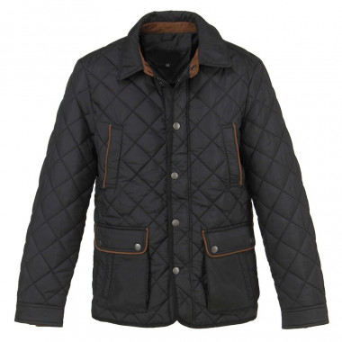 Out of Ireland Black Quilted Jacket