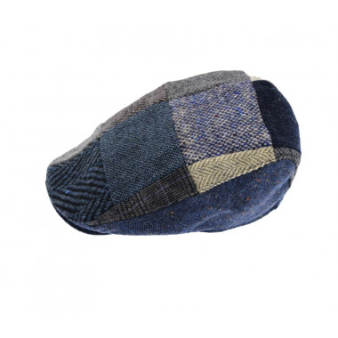 Hanna Hats Donegal Grey Patchwork Cap
