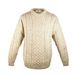Carraig Donn Beige Aran Sweater