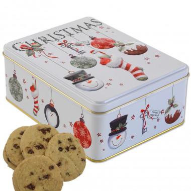 Christmas Tin Choc Chip Biscuits 400g