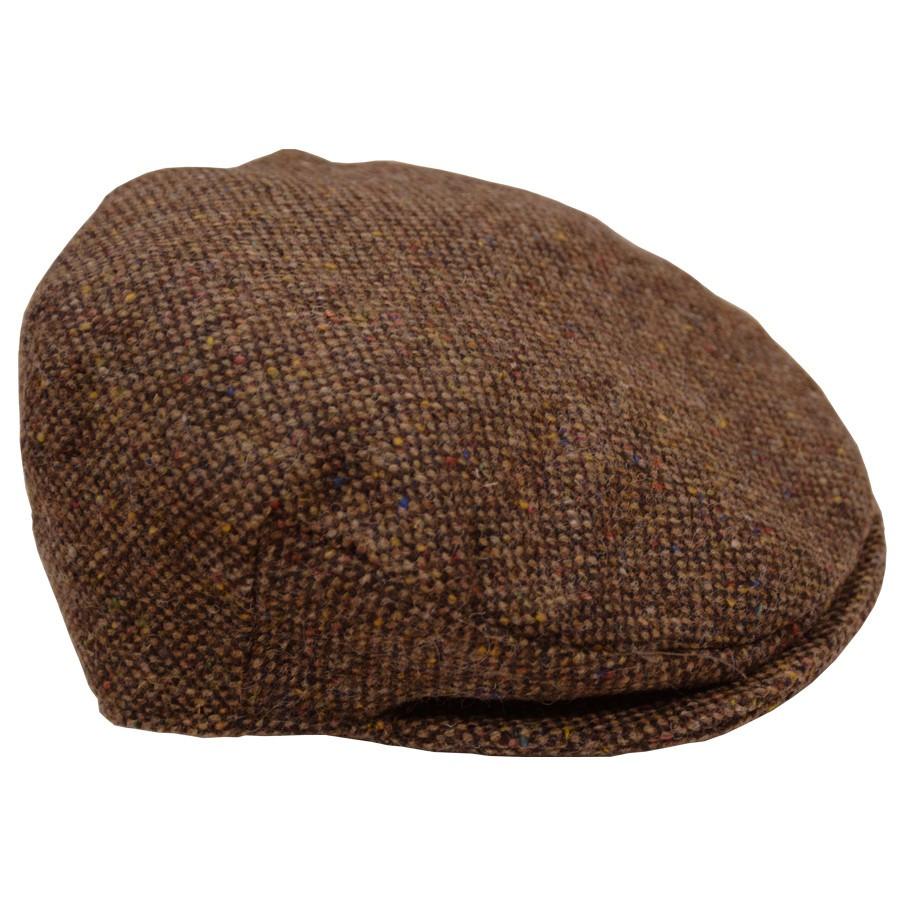 21cefadb761b Hanna Hats Brown Tweed Flat Cap