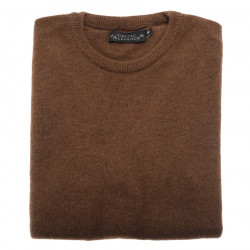 Celtic Alliance Round Neck Brown Lambswool Sweater