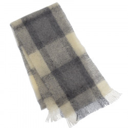 Cushendale Grey Brushed Mohair Scarf