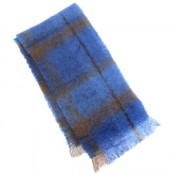 Cushendale Bluebird Brushed Mohair Scarf