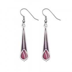 Mauve/Red Drop Mack Earrings