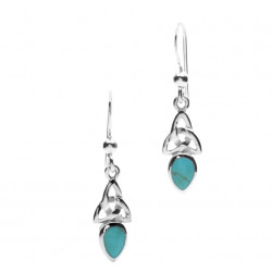 Celtic Silver & Turquoise Earrings