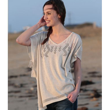 Out Of Ireland Sandy Embroidered Poncho