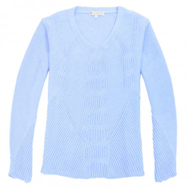 Out Of Ireland V Collar Twisted Sweater
