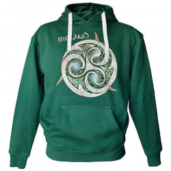 Sweat à Capuche Triskel Celtic Ireland Vert