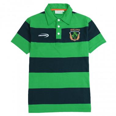 Polo Rayé Vert-Marine Irlande Lansdowne