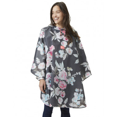 Tom Joule Grey & Flowers Rain Poncho