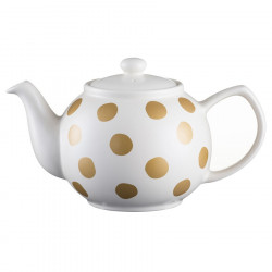 Golden Spotted Sandstone Teapot 6 Mugs 1.10L