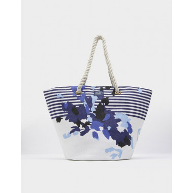 Tom Joule Striped and Flowery Beach Bag