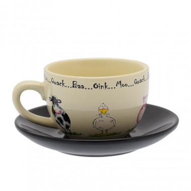 Home Farm Sandstone Cup and Saucer