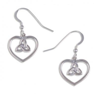 Boucles d'Oreilles Argent Coeur Knot