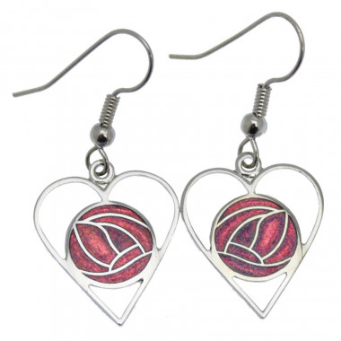 Mack Earrings Red Heart
