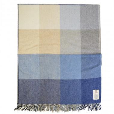 Avoca Blue Denim Woollen/Cashmere Plaid
