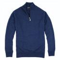 Best Yarn Lambswool Blue 1/2 Zip Jumper