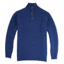 Pull Col Montant Boutonné Indigo Out Of Ireland