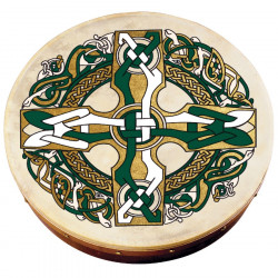 Celtic Cross Large Bodhrán Pack