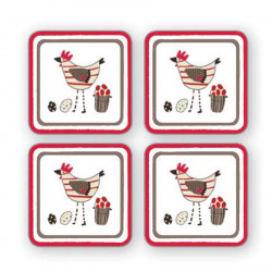 Coasters x4 Chicken
