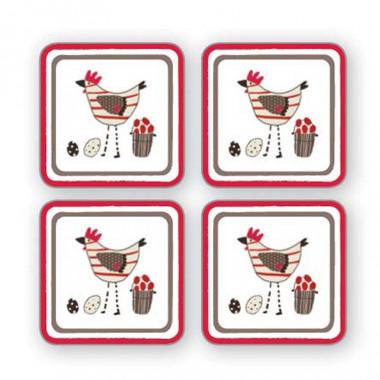 Dessous de Verre x4 Chicken