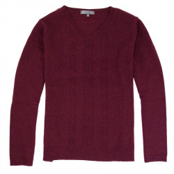 Best Yarn V Collar Bordeaux Sweater