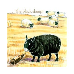 Dessous de Verre The Black Sheep