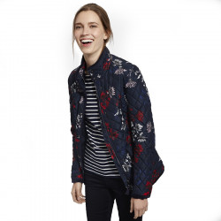 Tom Joule Navy & Flowers Quilted Jacket