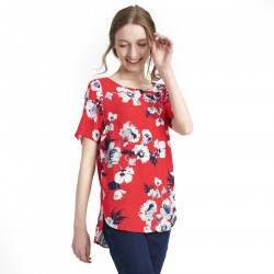 Tom Joule Red & Flowers Top