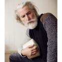Peregrine Ecru-Black-Grey with Shoulder Patches Tweed Sweater