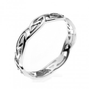 Interlaced Knots Silver Ring